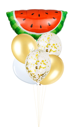 Half Watermelon Foil Helium Balloon Set