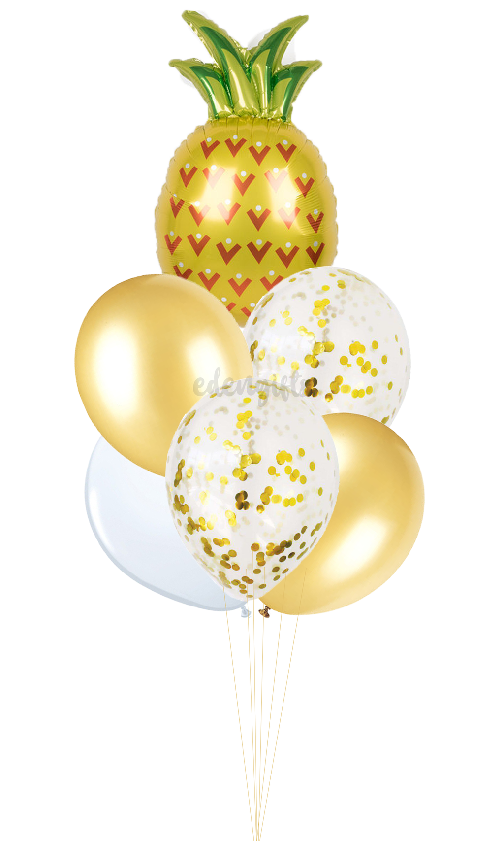 Pineapple Foil Helium Balloon Set