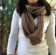 Juliana Cable Knit Infinity Scarf