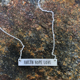 Inspire Necklace (Faith Hope Love)
