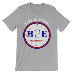 H2E Time Is Money Tee - Silver/Blue/Red/White