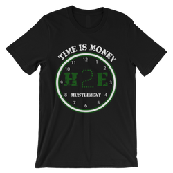 H2E Time Is Money Tee - Black/Green/White