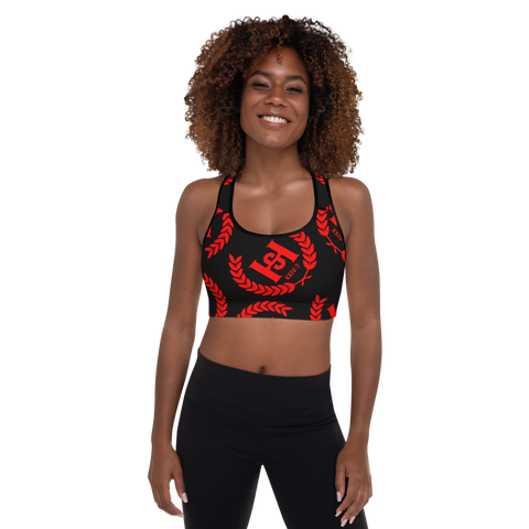 H2E Padded Sports Bra Black