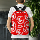 H2E All Over Crest Backpack Red