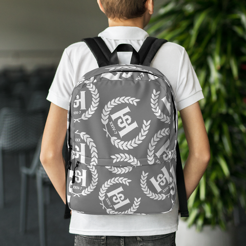 H2E All Over Crest Backpack Grey