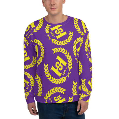H2E Printed Unisex Sweatshirt Purple/Gold
