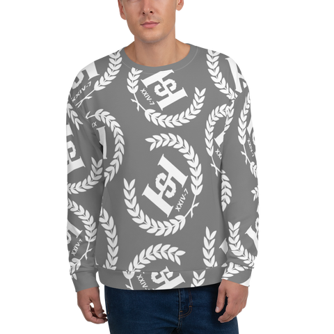 H2E Printed Unisex Sweatshirt Grey/White