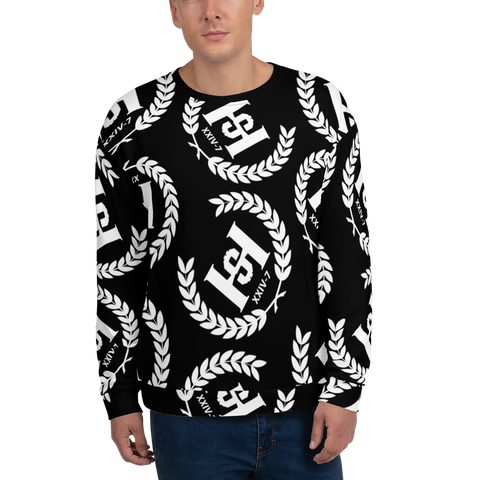 H2E Printed Unisex Sweatshirt Black/White