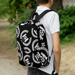 H2E All Over Crest Backpack Black