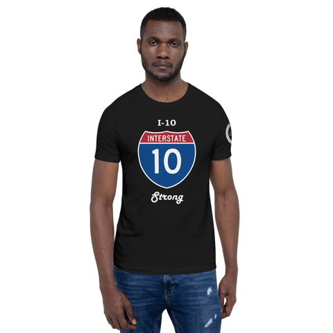 I-10 Strong Tee / White letters