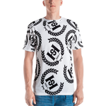 H2E Crest All Over Print Men's T-shirt White/Black