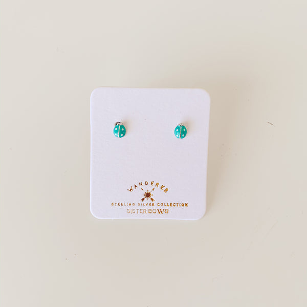Sterling Silver Petite Lady Bug Studs