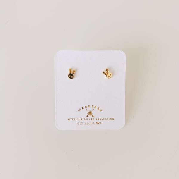 Sterling Silver Petite Bunny Studs