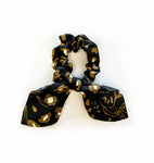 Black Leopard Scarf Scrunchie