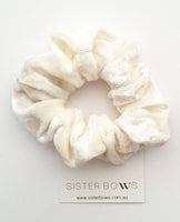 Velvet Cream Scrunchie