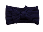 Knotted Headband - Navy Blue