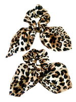 Brown Leopard Scarf Scrunchie
