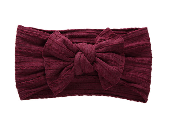 Knotted Headband - Maroon