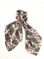 Long Scarf Scrunchie - Pink Paisley