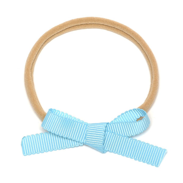 Petite Baby Bow Headbands - Sky Blue