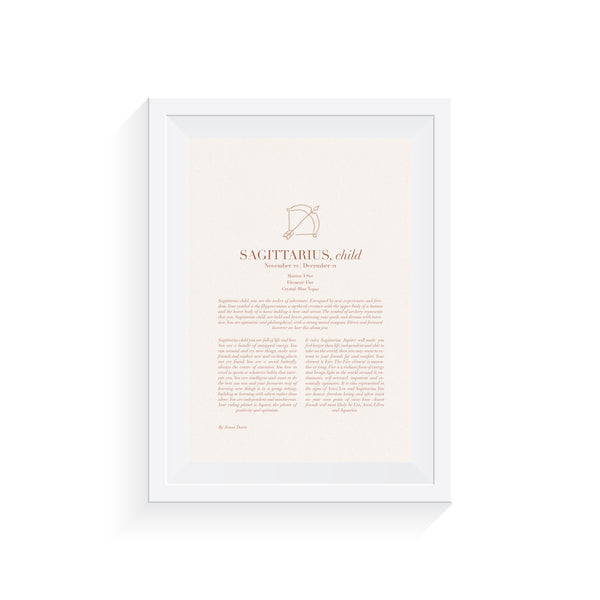 Sagittarius Child Print