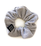 Silver Fleck Grey Scrunchie