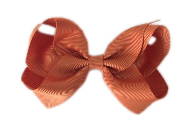 Burnt Orange Sister Bow