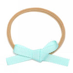 Petite Baby Bow Headbands - Mint