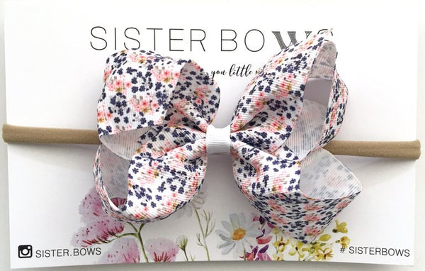 Pretty Posy Baby Sister Bow Headband
