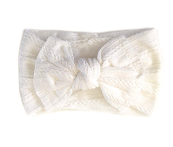 Knotted Headband - White