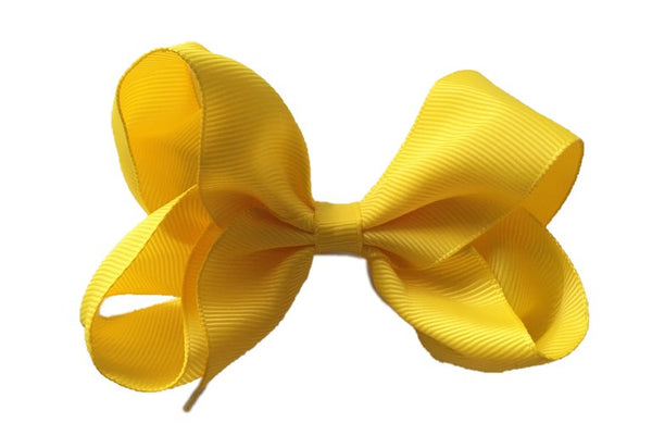 Oversized Bright Yellow Sister Bow