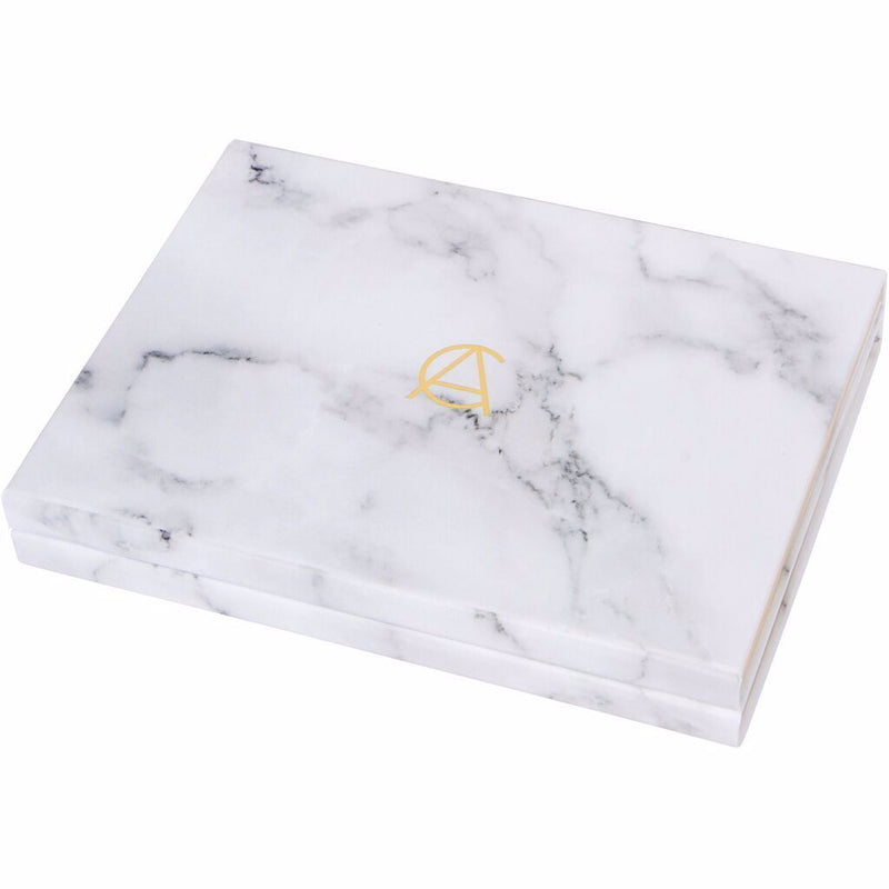 70 Pan White & Gold Classic Look Marble Palette