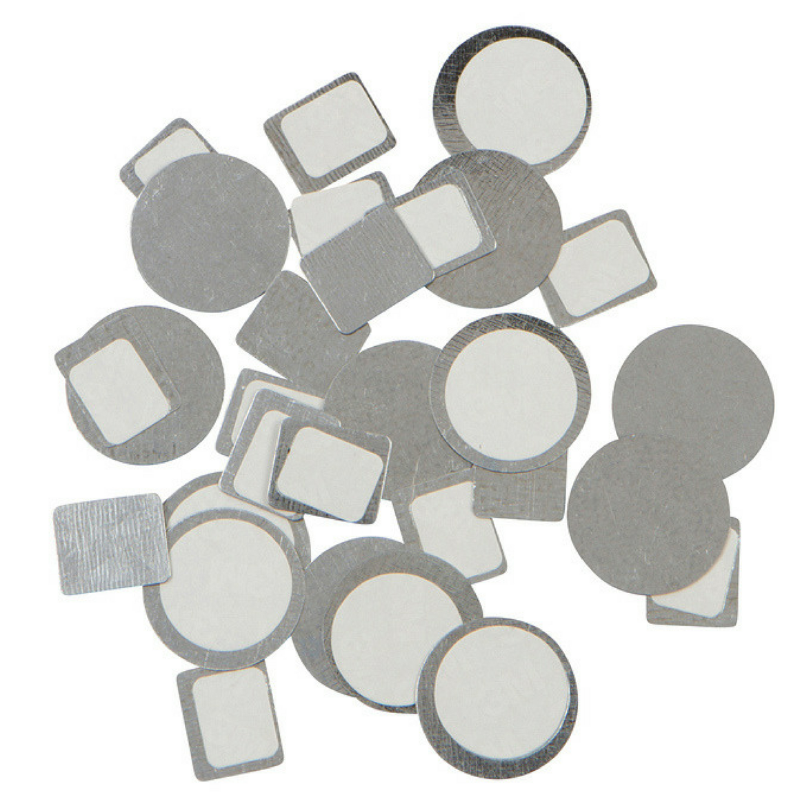 80 Metal, Magnetic Stickers (circles & squares)