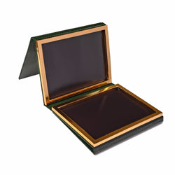 70 Pan Deep Green Faux Leather Palette