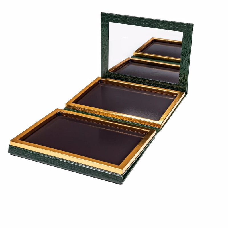 70 Pan Deep Green Faux Leather Palette (Pre-Order, Ships The Week Of 10/5)