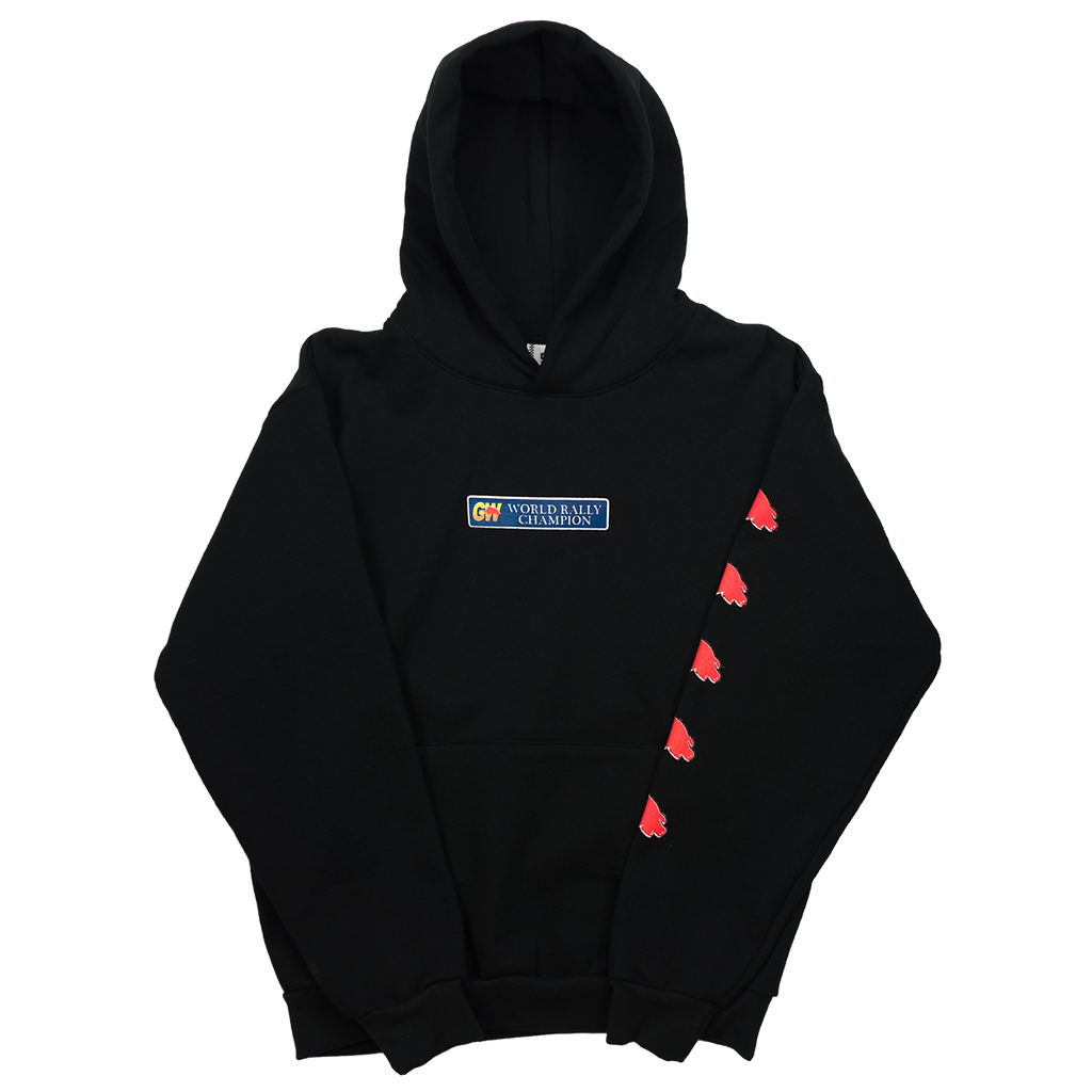 ELEPHANT IN THE ROOM HOODED SWEATSHIRT BLACK