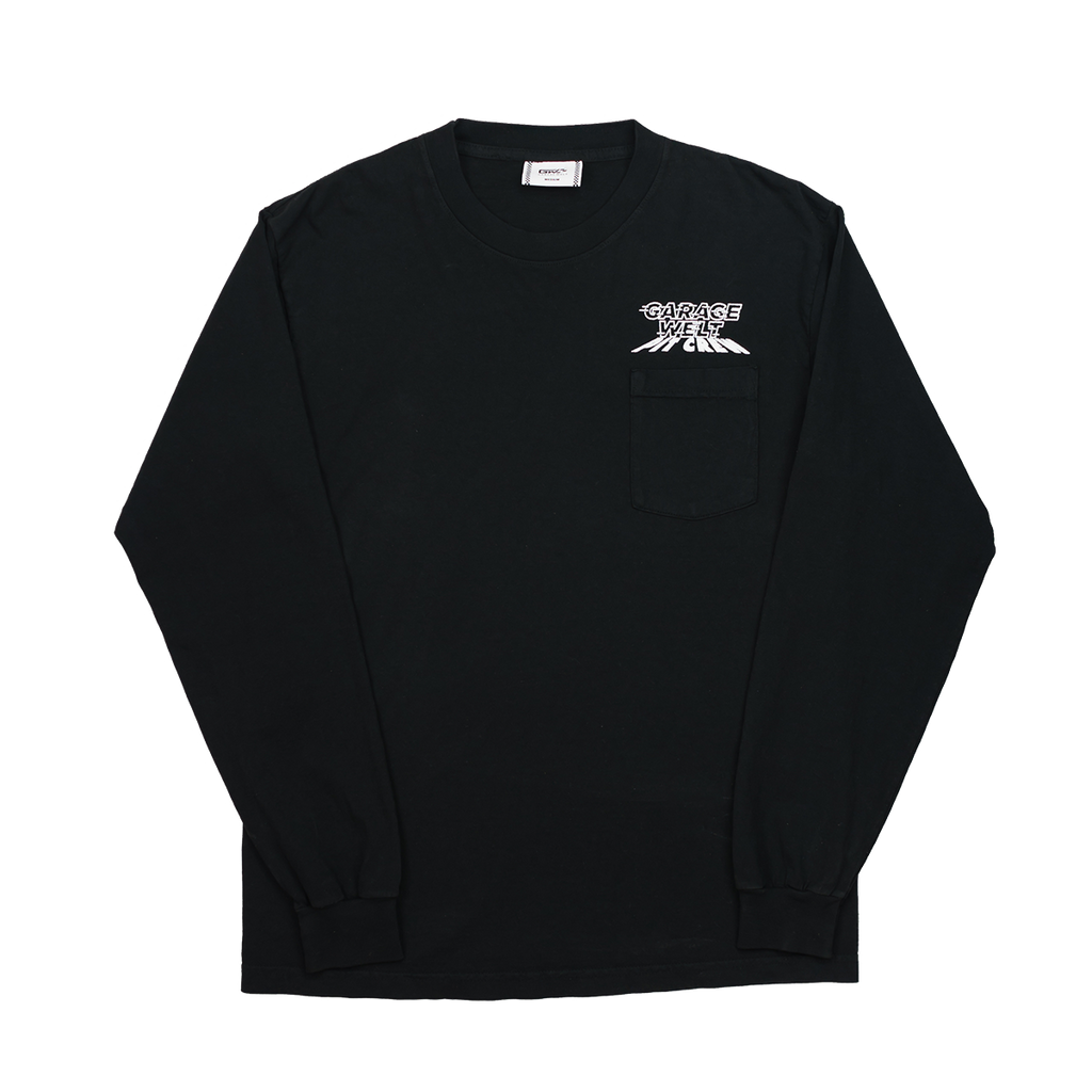 GW PIT CREW LONG SLEEVE POCKET TEE BLACK