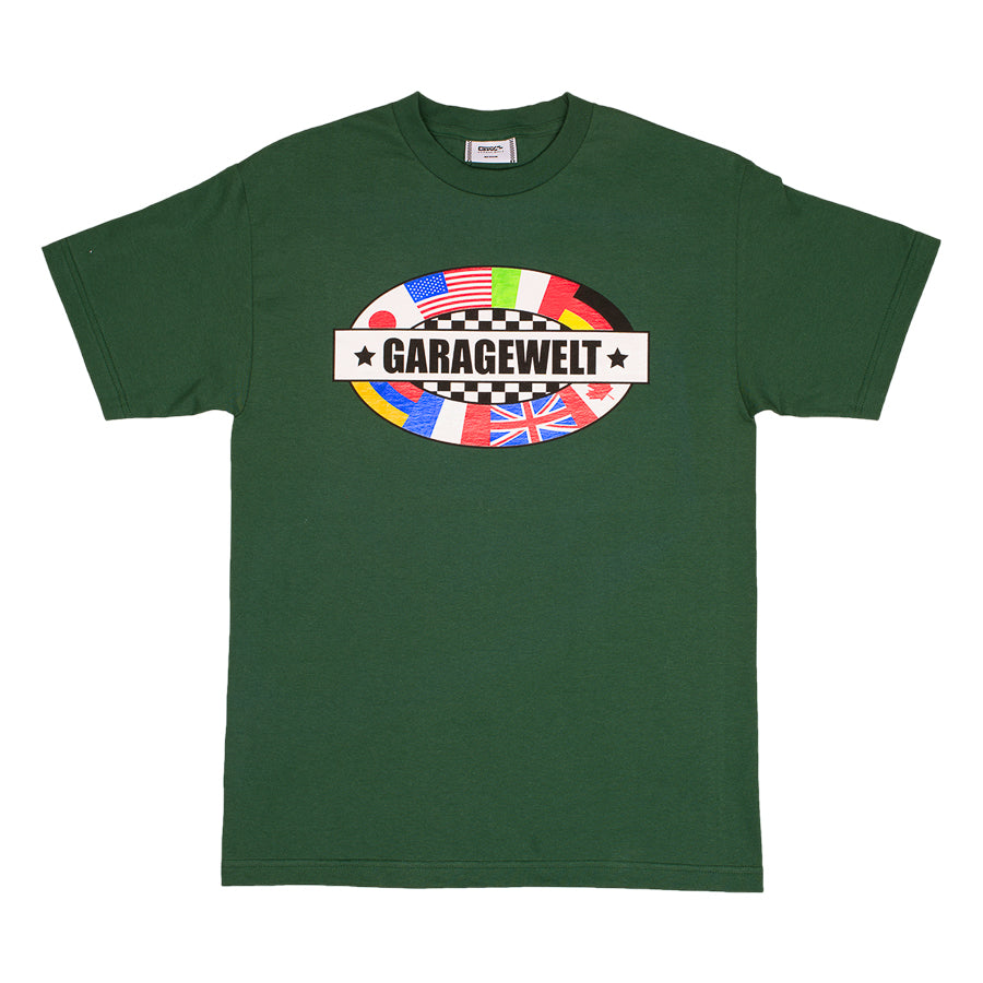 FLAGS TEE FOREST GREEN