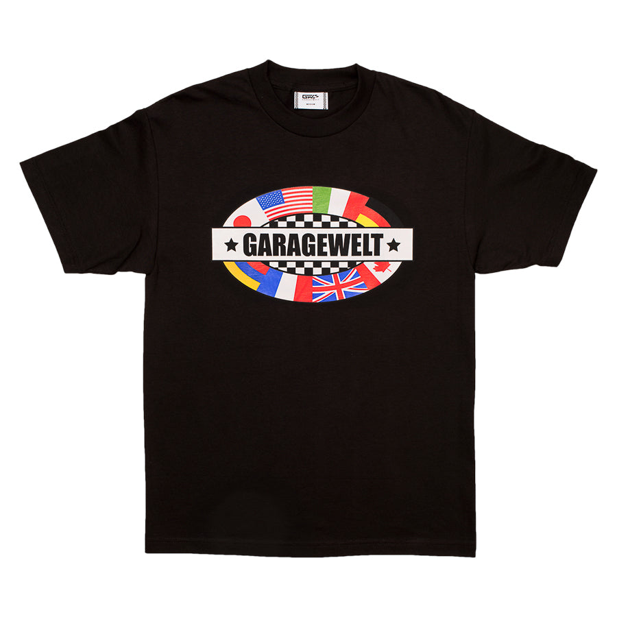 FLAGS TEE BLACK