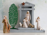 Nativity Scene, with Tree Silhouette and Zampognaro