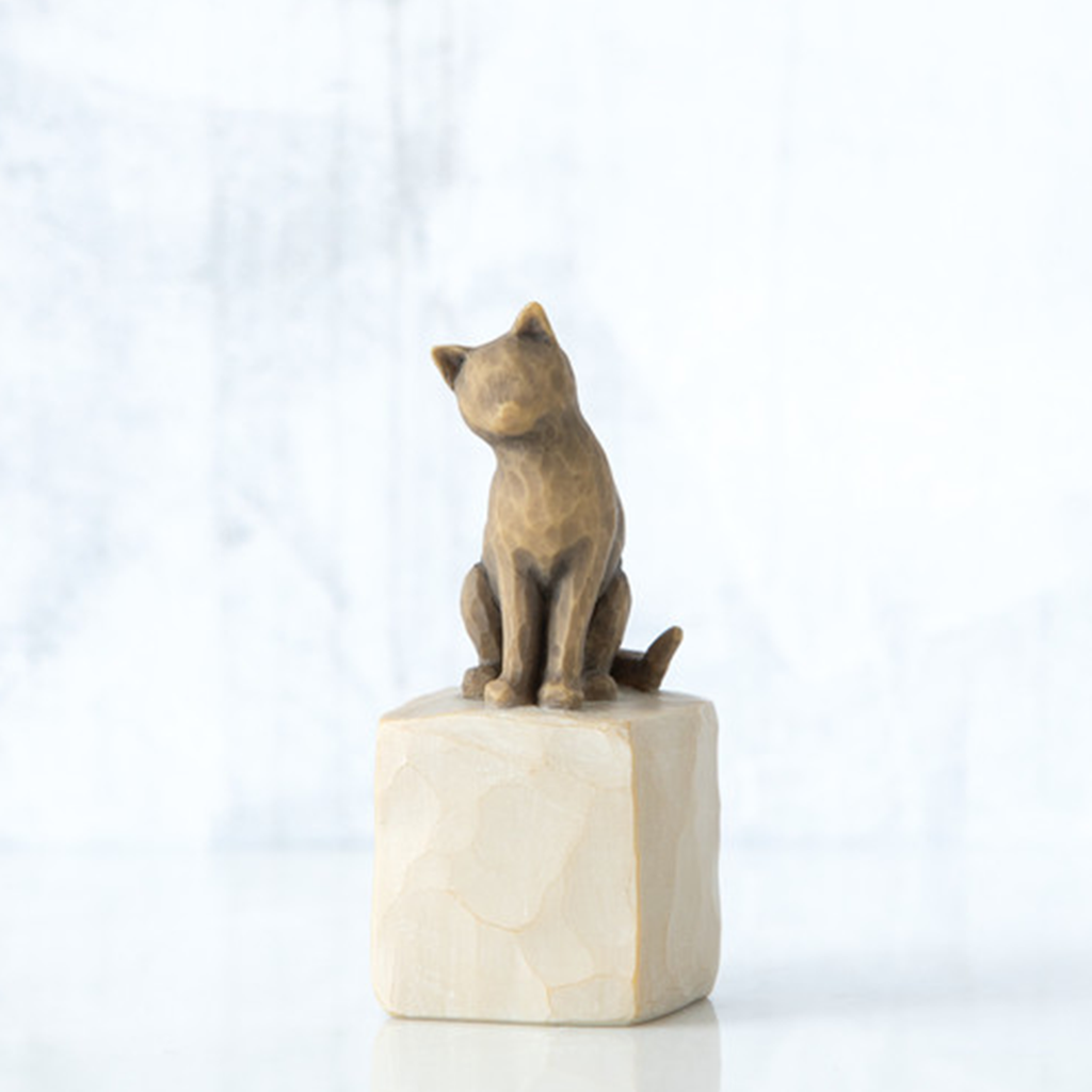 The Shabby Shed - Willow Tree Figurines - Love My Cat - Dark