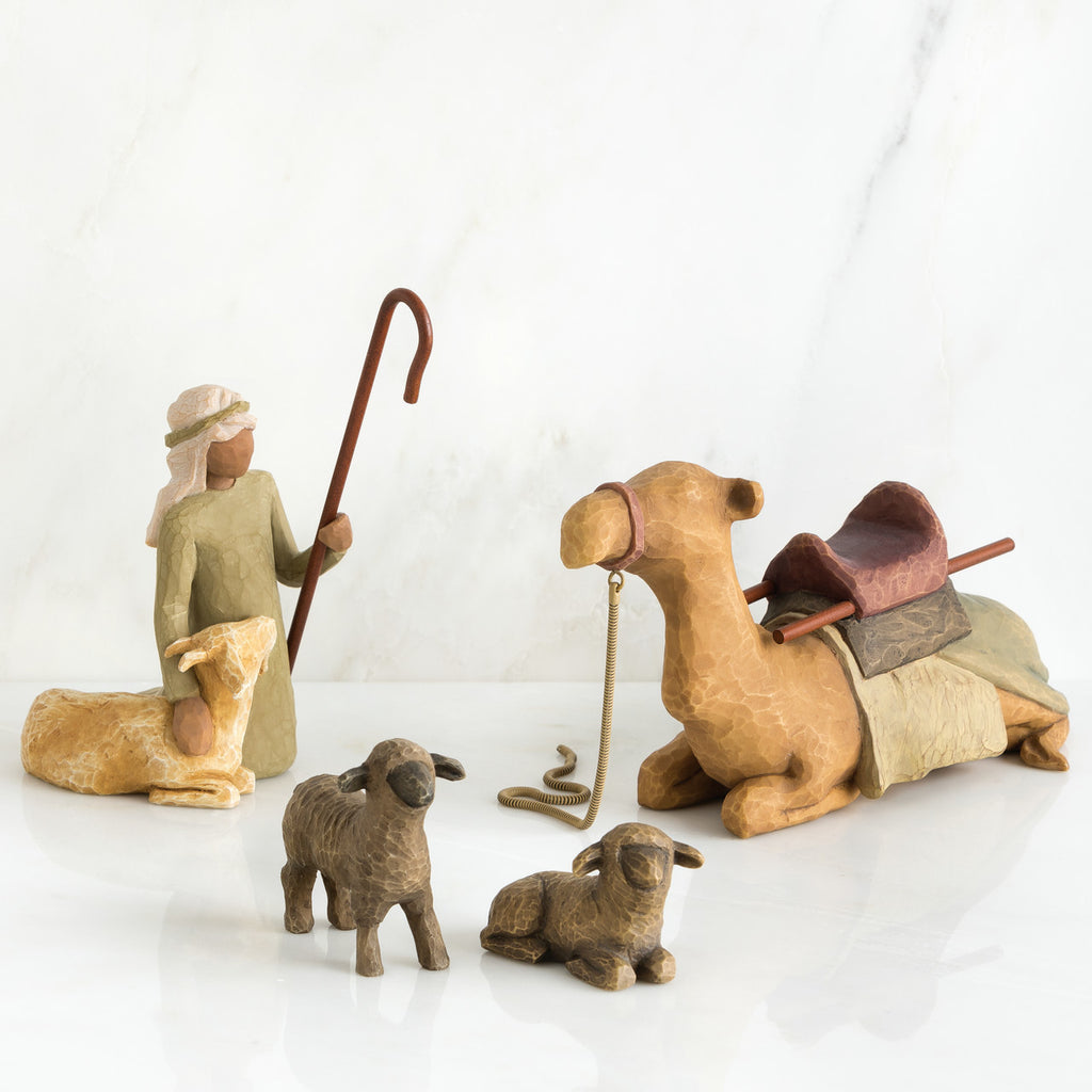 The Shabby Shed - Willow Tree Figurines - Shepherd and Stable Animals
