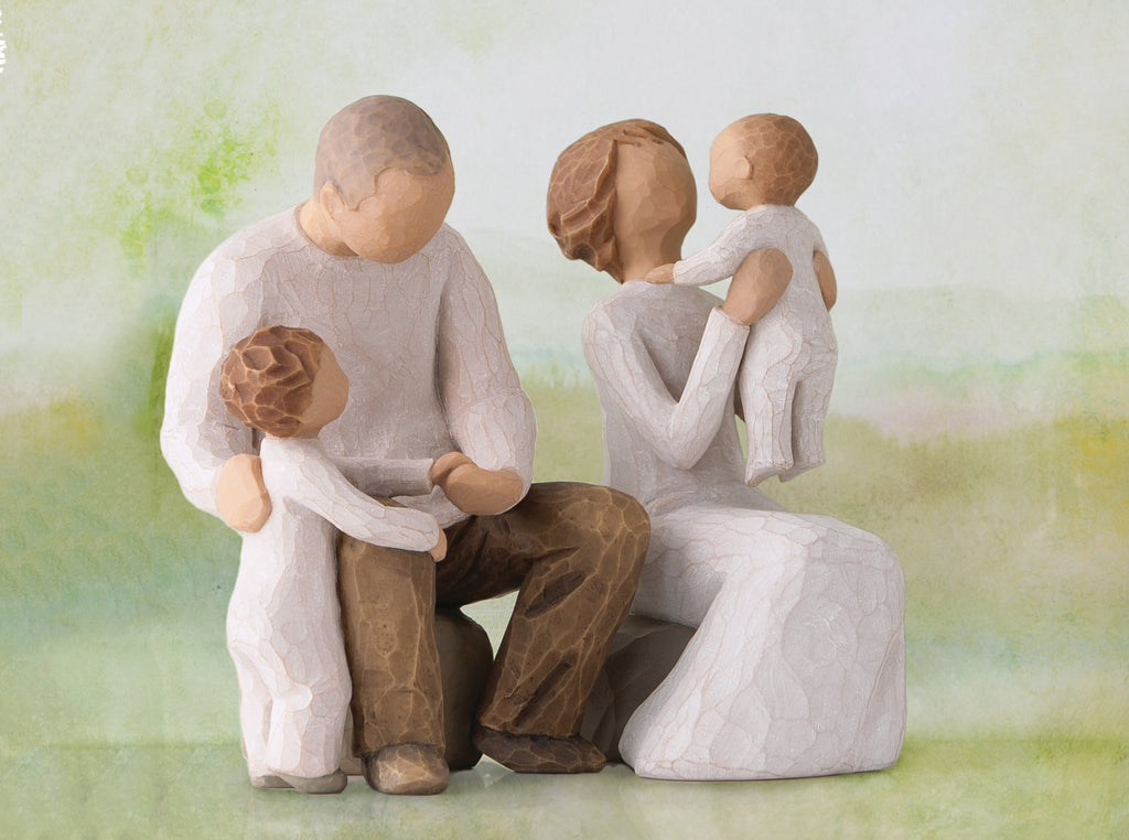 Grandparents With 2 Grandchildren Willow Tree Figurines The Shabby Shed
