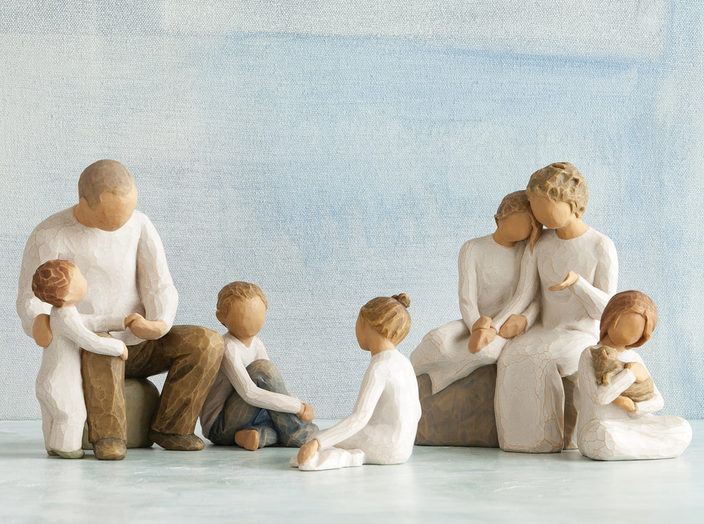 Grandparents With 4 Grandchildren Willow Tree Family Groupings Buy Now The Shabby Shed