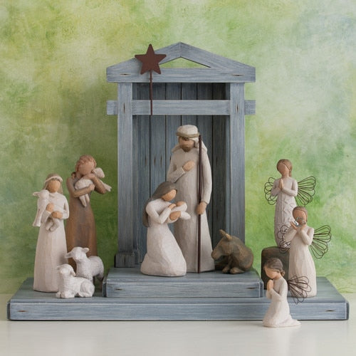 Creche, Willow Tree Nativity Shelter