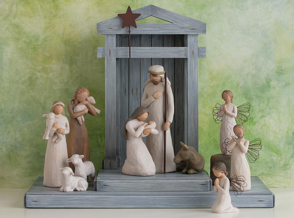Blessings Nativity Scene, with additional Angels