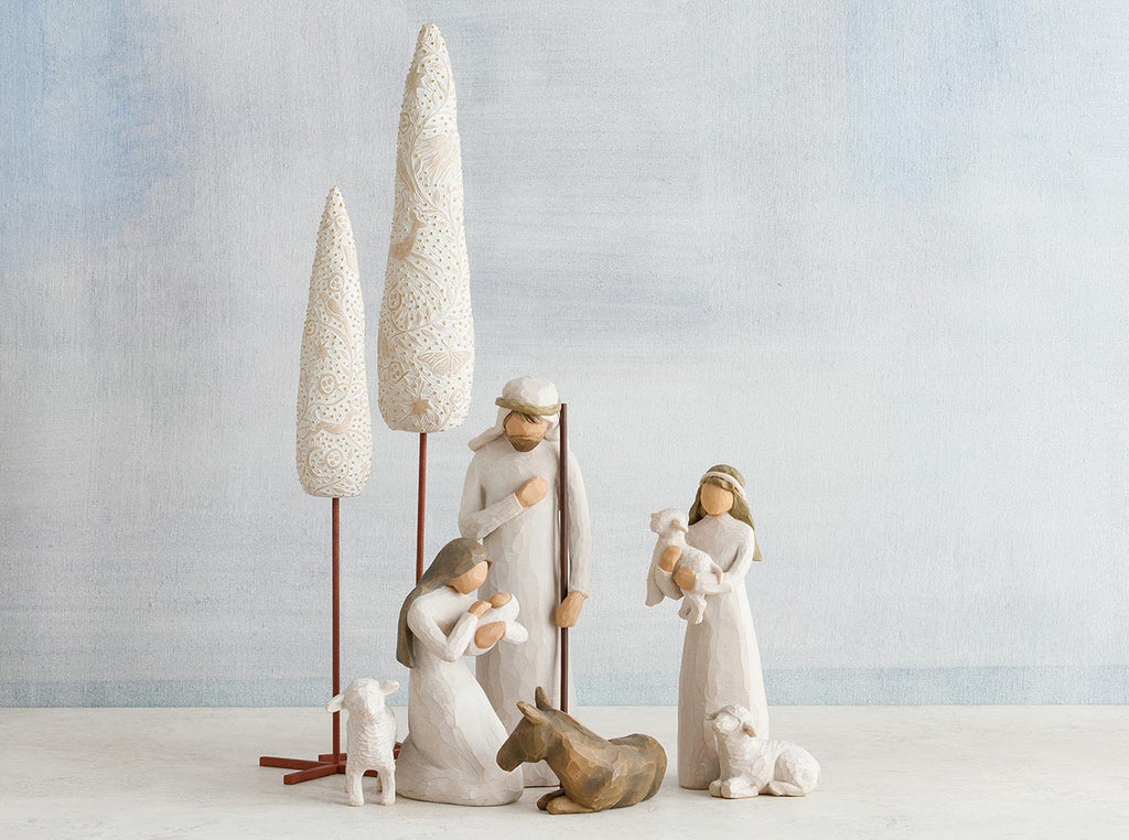 Simple Nativity Set - With Cypress Trees