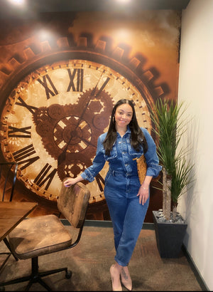 Rock Steady Denim Jumpsuit