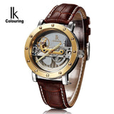 Original  Mechanical Men watches Tourbillon automatic luxury brand business skeleton Genuine Leather strap Top brand relojes