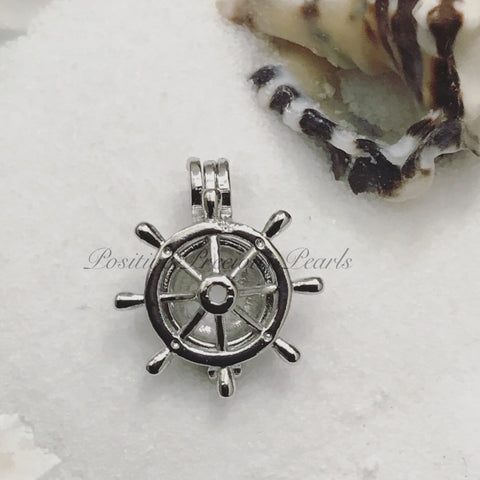 Silver plated pendants 1250 positive precious pearls silver plated maritime wheel mozeypictures Images